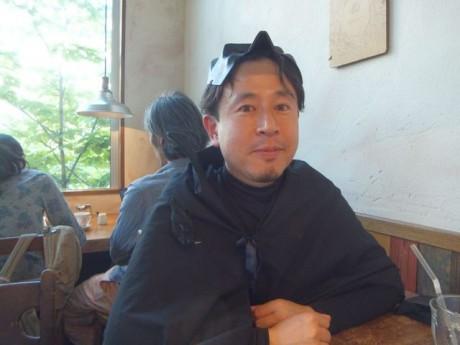 影山知明さん。本日のロゲイニングにはバットマンの格好で登場。