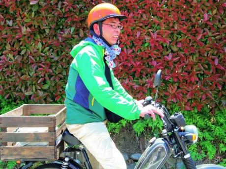 お散歩隊の隊長、齋藤弘典さん。ロゲイニング中に、齋藤さんを見つけると特別ポイントがもらえる。
