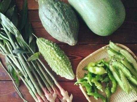 中村さんの野菜たち。クルミドコーヒーでは、その日届いた野菜でスープのレシピを考えるというチャレンジングな取り組みを続けている